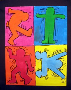Drawing pop art can be accomplished through sharpies and markers. Good example of movement and expression, too.