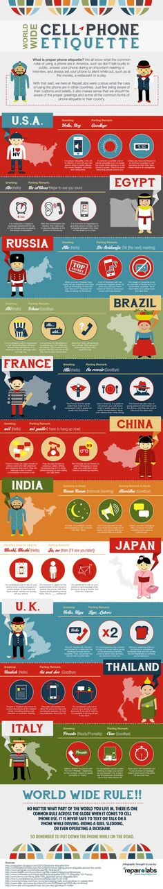 Cell Phone Ettiquette Around The World