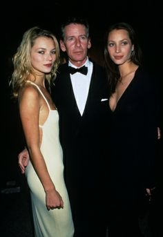 Kate Moss with Calvin Klein and Christy Turlington at the Costume Institute Gala at the Metropolitan Museum of Art, Dec. 1995