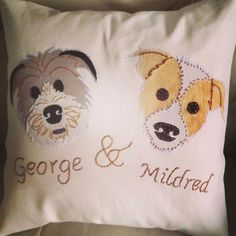 Photo: Meet George and Mildred! What a pair of cuties!! Rachel Rooke Textile Designer http://iconicstylebar.wordpress.com/