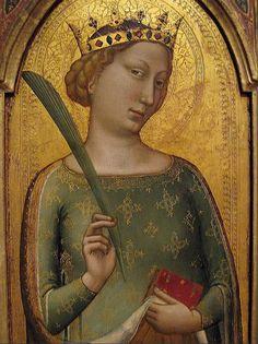 Bernardo Daddi (active c.1312/1320-1348), St. Catherine of Alexandria.