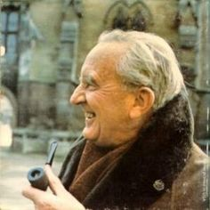 At age 16, Tolkien fell in love with Edith Bratt, three years his senior. His guardian, a Catholic priest, was horrified that his ward was seeing a Protestant & ordered the boy to have no contact with Edith until he turned 21. Tolkien obeyed, pining after Edith for years until his 21st b-day, when he met with her under a railroad viaduct. She broke off her engagement to another man, converted to Catholicism, & they were married for the rest of their lives. Click for the rest of the love story. ♥