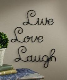 Amazon.com: Live Love Laugh Set 3 Wall Mount Metal Wall Word Sculpture, Wall Decor: Home & Kitchen