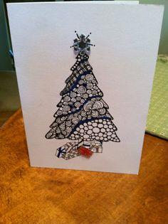 Christmas Zentangle Ideas On Pinterest Christmas Cards