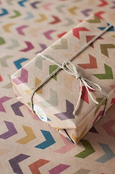 3 Sheets Follow the Arrow - Wrapping Paper. #ApartmentTherapy