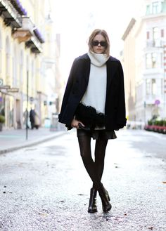 Oversized turtleneck via sara strand winter outfit