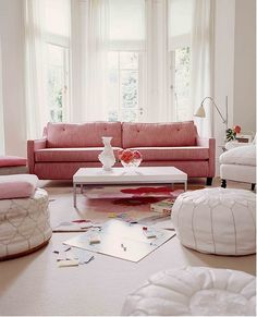 Pink sofa, the rest I could ummm, yard sale?