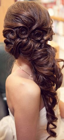 side do with pin curls would look amazing on an indian bride