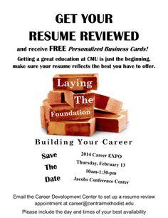 person career develop central methodist resum review career center