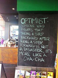 An optimist :-)  #smile