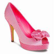Lunar FLR151 Candystripe & Polkadot Platform shoe
