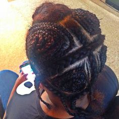 vixen braid pattern for sew in protectivehairstyle