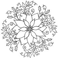 christmas flowers coloring pages cooloring com
