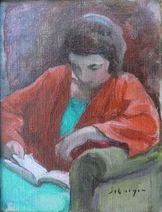 Lebasque, Henri (1865-1937). Femme lisant assise dans un fauteuil. c. 1923. Oil on canvas #ARTEmisiaLegge - @LibriamoTutti - http://www.libriamotutti.it/