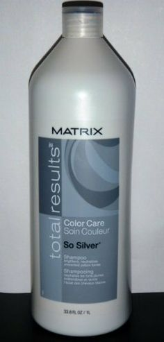 matrix total results color care so silver shampoo for silver white hair diminishes unwanted
