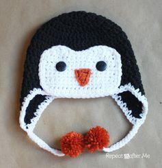 FREE Crochet Penguin Hat pattern! For Lillia