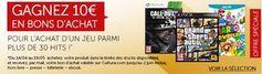 10€ en bon d'achat pour l'achat jeux vidéo PS3, Xbox, Wii U et PC - http://www.bons-plans-malins.com/10e-de-bon-achat-pour-achat-jeux-video-ps3-xbox-wii-u-et-pc/ #Jeuxvidéo