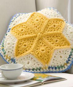 Alaska Snow Flowers Pillow Crochet Pattern | Red Heart