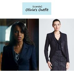 "On the blog: Olivia Pope's (Kerry Washington) cutaway pleated blazer | ""It's Handled"" (Ep. 301) #tvfashion #tvstyle #gladiators #falltv #fashion #outfits"