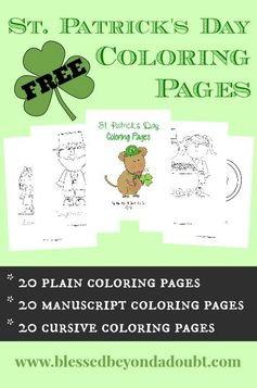 FREE St Patricks Day Coloring Pages | Blessed Beyond a Doubt