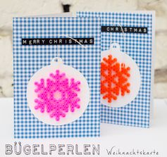 Christmas cards with hama beads - by Johanna Rundel
