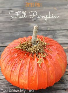Dryer Vent Pumpkin | You Brew My Tea - Featured at the #HomeMattersParty 53