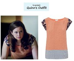 Scandal Season Finale 222: Quinn's (Katie Lowes) Joie silk print top #tvfashion #outfits #fashion #style