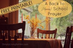A Homeschool Mother's Prayer- FREE Printable