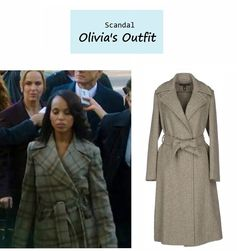 "On the blog: Olivia Pope's (Kerry Washington) cashmere coat | ""Say Hello to My Little Friend"" (Ep. 304) #tvstyle #tvfashion #outfits #fashion"