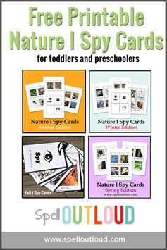 Free Printable I Spy Cards for toddlers and preschoolers