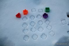 Take learning play outside with these snow patterns!