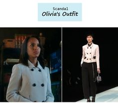 """On the blog: Olivia Pope's double breasted boxy jacket 