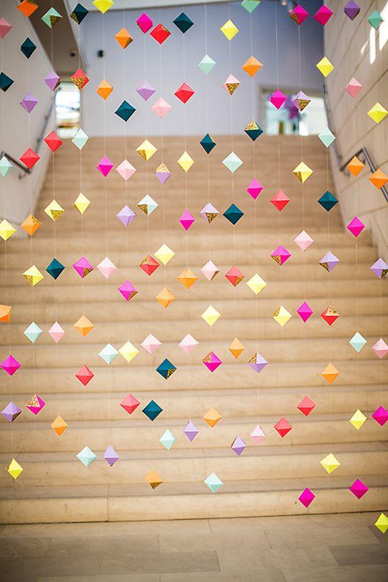 geometric party garland