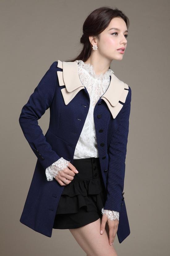sweet Korean Slim long coat