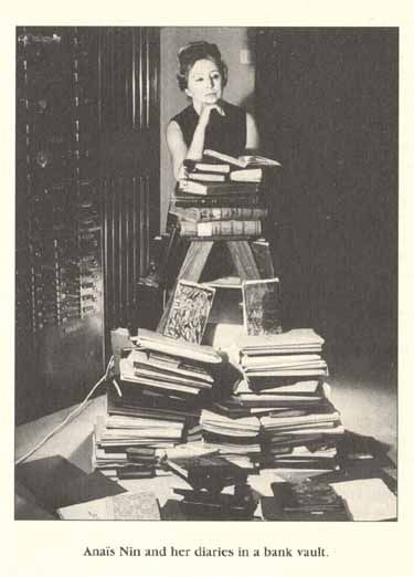 Anais Nin and her diaries in a bank vault