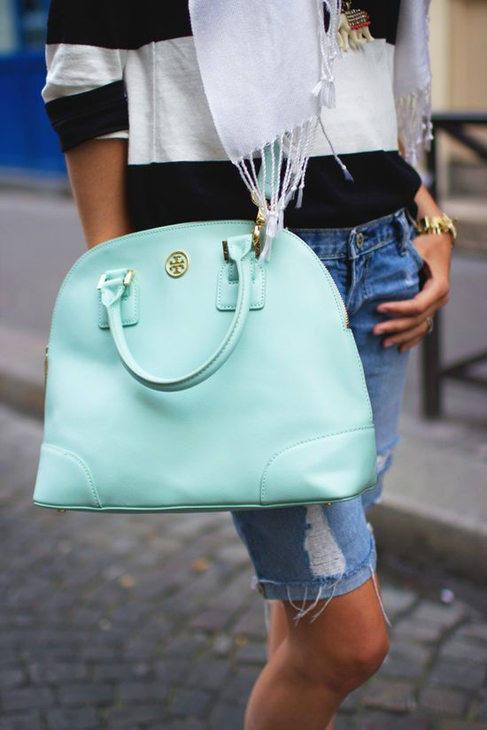 aqua tory burch bag