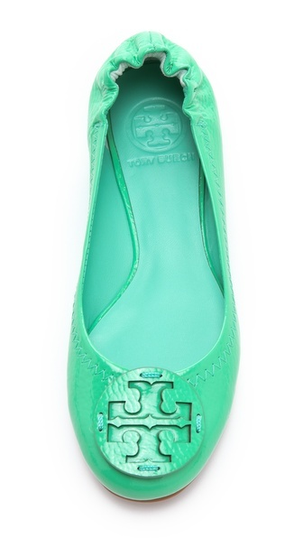 Tory Burch Reva Tumbled Patent Flats... LOVE THE MINT!!!