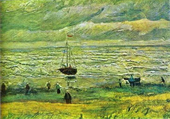 Shores of Scheveningen 1882. Vincent van Gogh