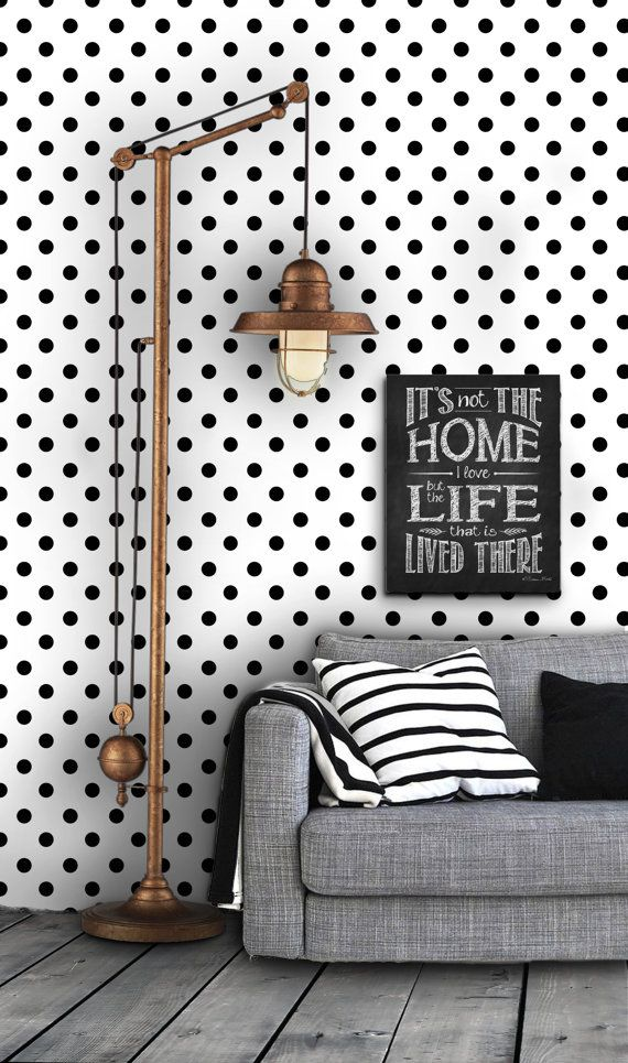 Love the idea of an accent wallpaper wall. Dotted Self Adhesive Vinyl Wallpaper D007 by Livettes on Etsy, $34.00