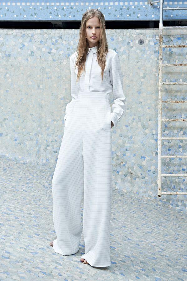 Chloé Resort 2014 all white suit wide leg pants