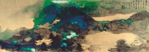 Zhang Daqian, An Invitation to Rusticate, 1966, ink and splashed color on paper , sold at HKD 71,800,000 at Sotheby's Hong Kong The Mei Yun Tang Collection of Paintings by Chang Dai-Chien on 27th May, 2013 © Sotheby's Hong Kong