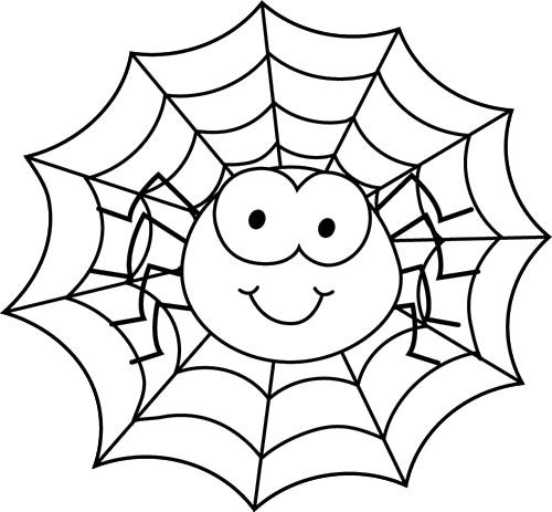 spider in spider web coloring page cute spider pinterest
