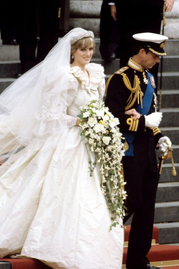 July 29, 1981: Prince Charles marries Lady Diana Spencer in Saint Paul's Cathedral. Princess Diana wedding earrings.