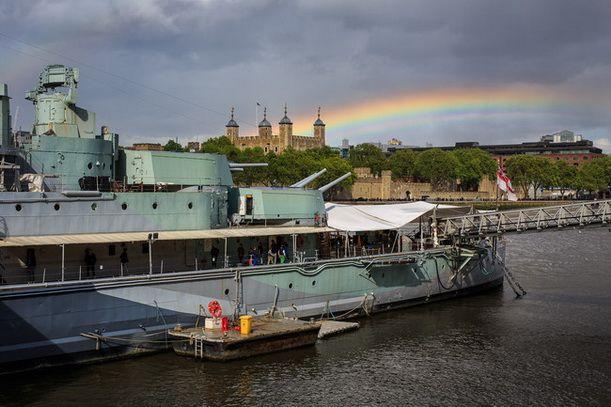 Как фотографировать радугу. Радуга над портом