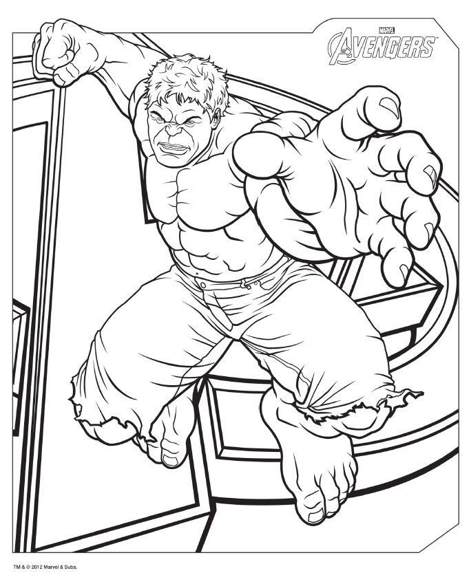 download avengers coloring pages here hulk