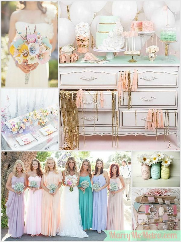 pastel wedding receptions | Pastel Wedding Inspiration Board On Marry Me Metro Wedding Blog