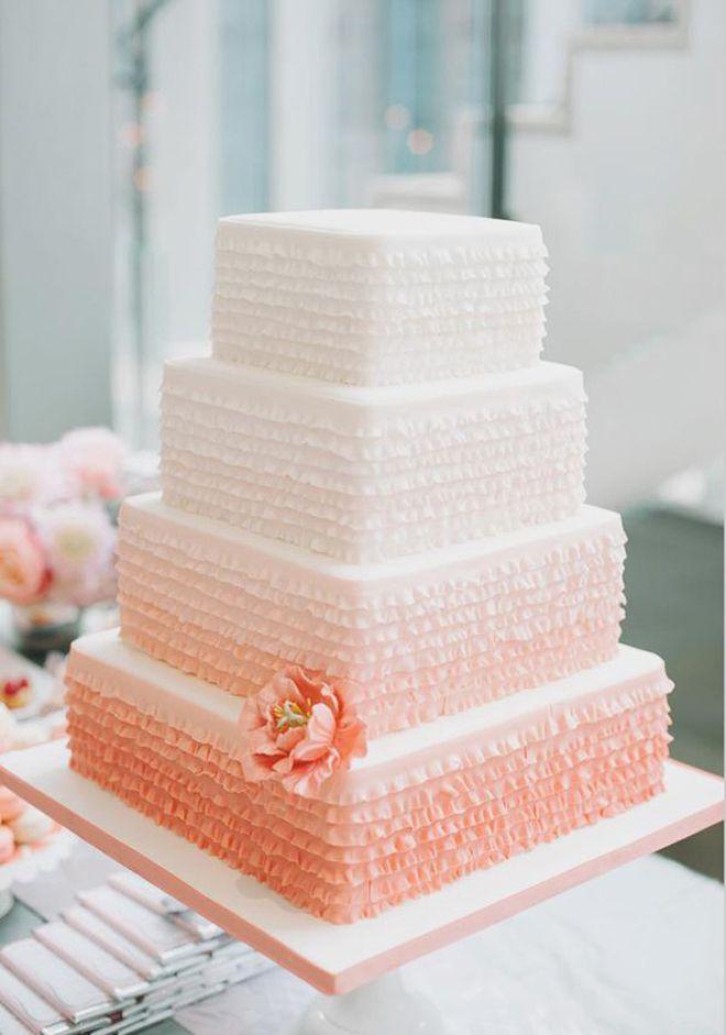 12 Fabulous Ombre Wedding Cakes   bellethemagazine.com #ombrewedding #weddinginspiration