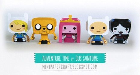 Adventure Time Mini Dolls Free Downloadable Printable