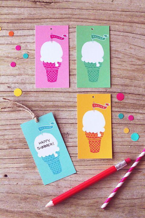 Ice Cream Tags