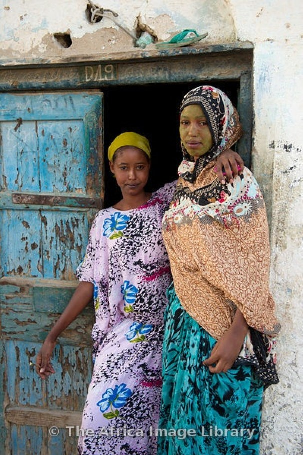 Outside their house, Berbera, Somaliland, Somalia